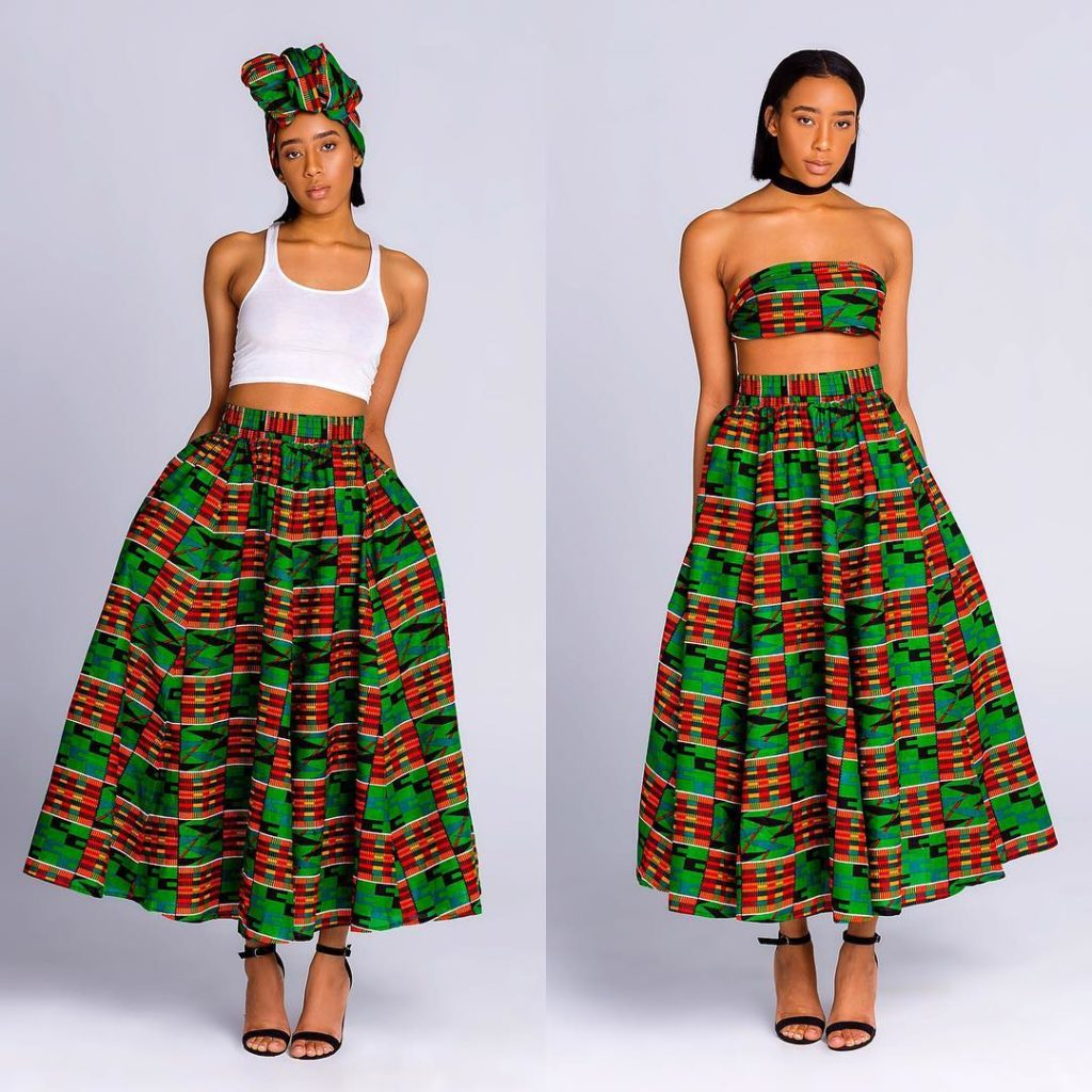 womens dashiki designs style maxi skirt