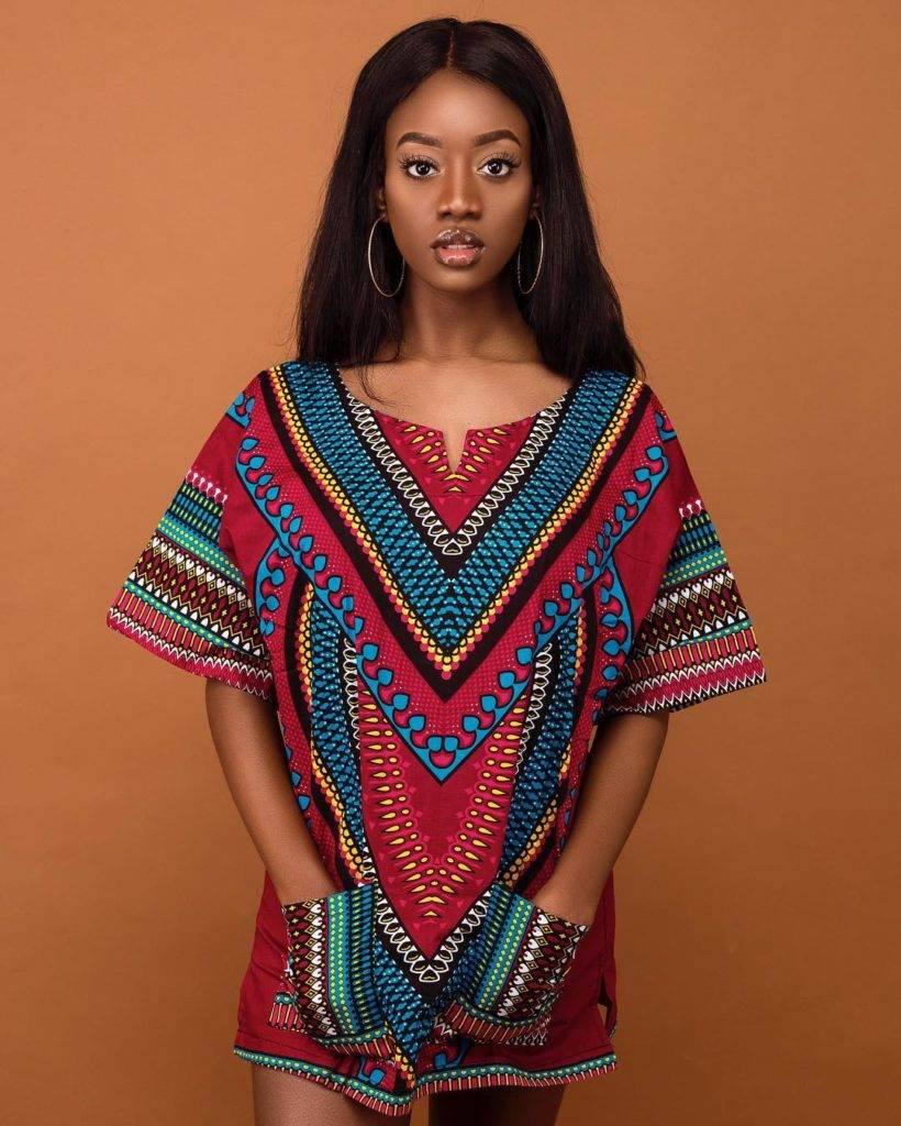 womens dashiki designs red