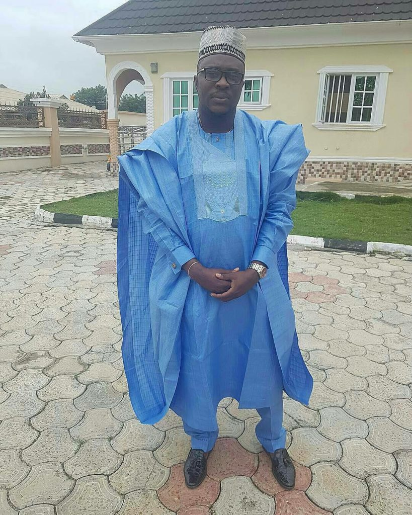 man in blue agbada