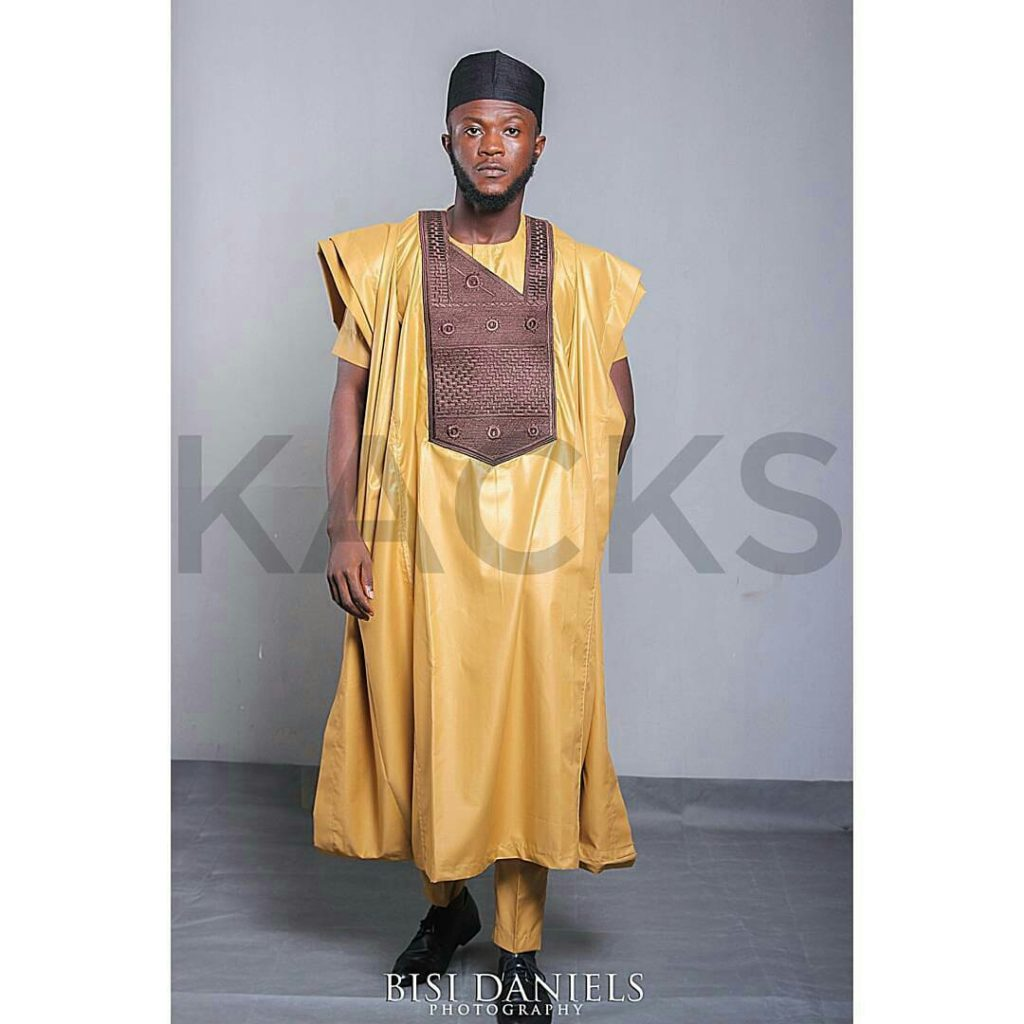 orange agbada