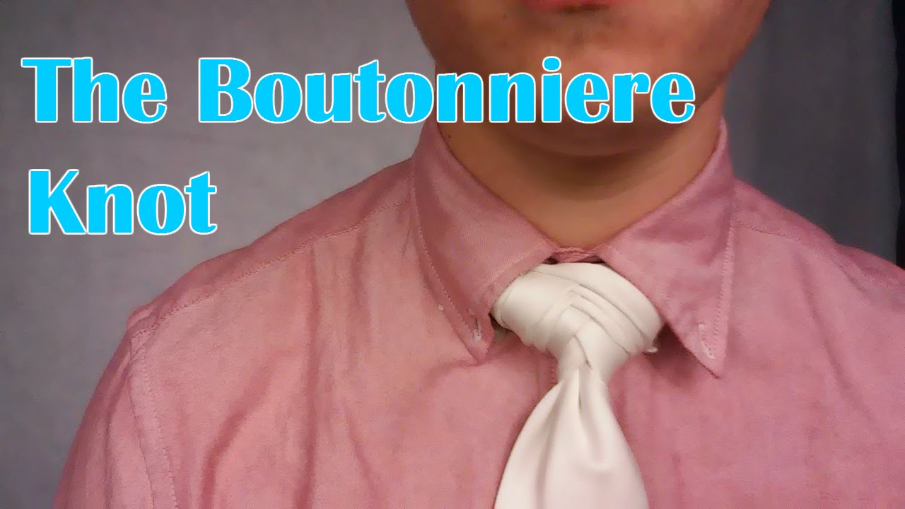 Cool Tie Knots boutonniere knot