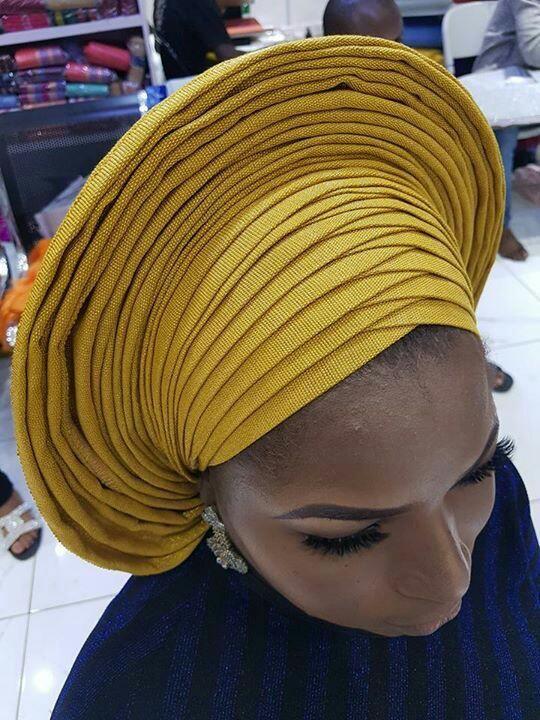 yellow Gele Styles
