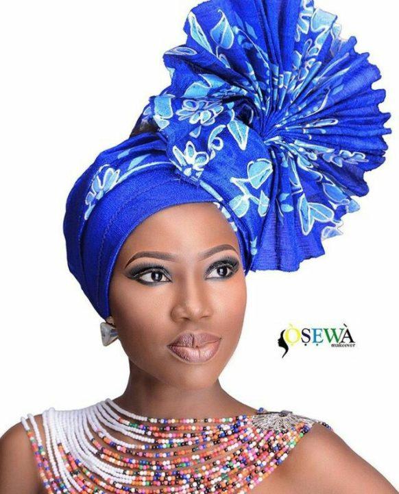 blue Gele Style for women