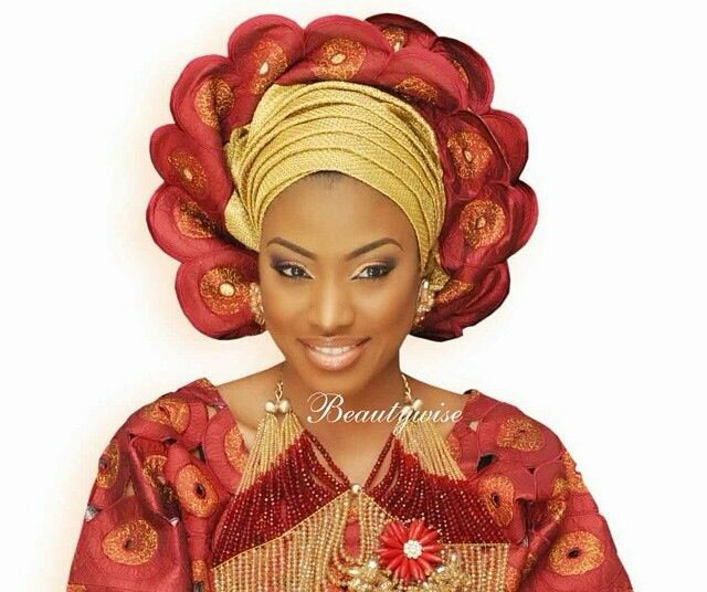 oxblood colored Gele Styles