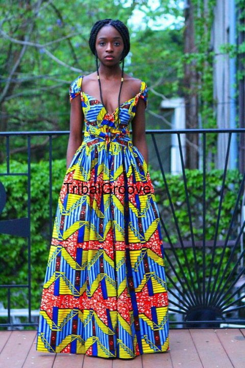 ankara gown kitenge image