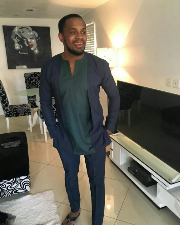 nigerian mens wear blue plain color