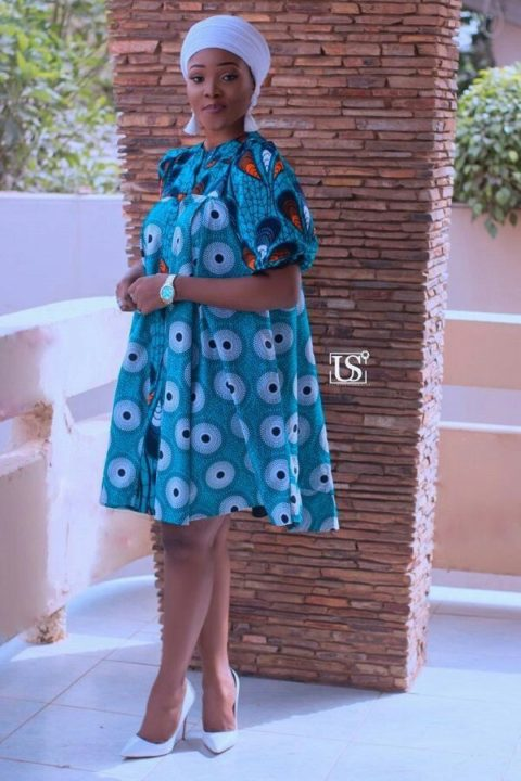 Ankara Fashion blue gown image