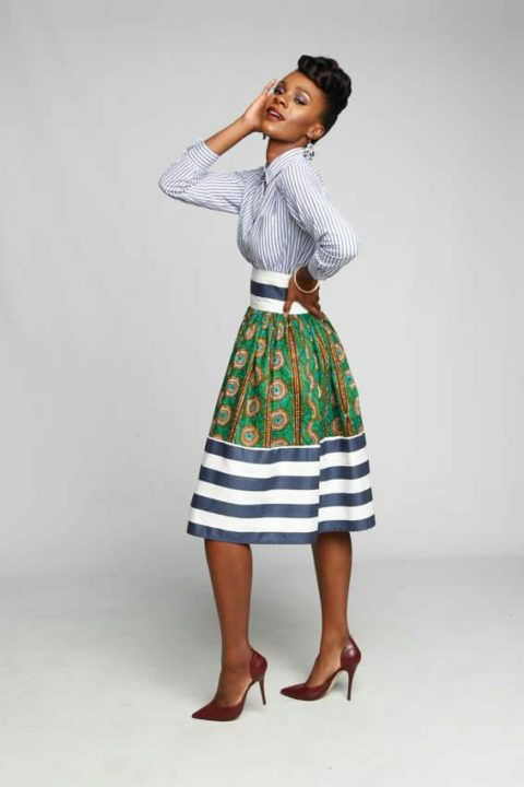 ankara maxi skirt image
