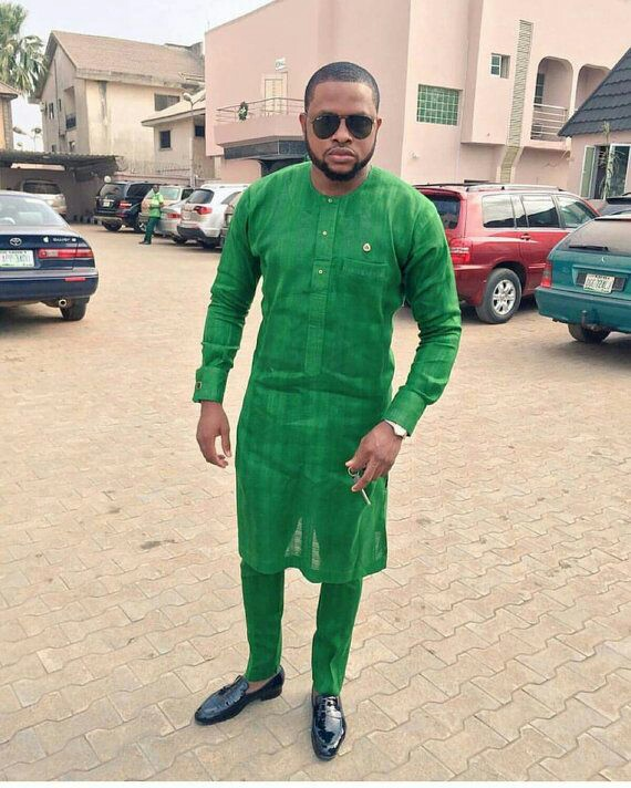 latest Nigerian mens wear image 12 green