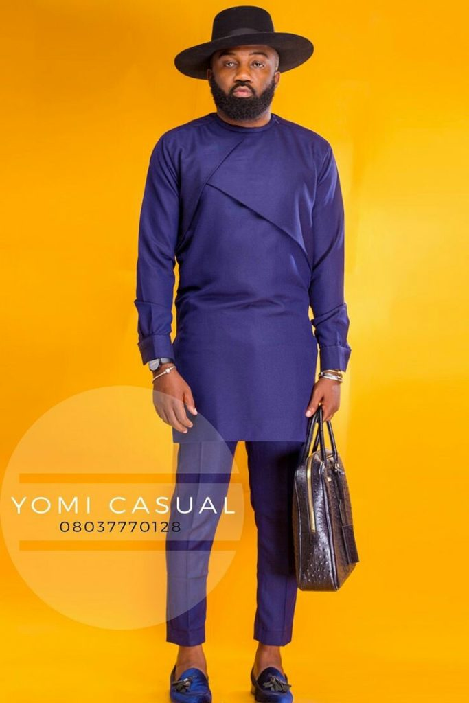 Nigerian Men's Traditional Fashion Styles purple