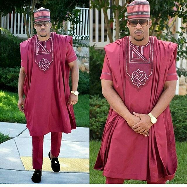 latest Nigerian mens wear image 12 red agbada