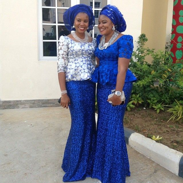 nigerian lace styles for wedding blue